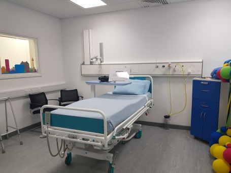 Mock hospital room