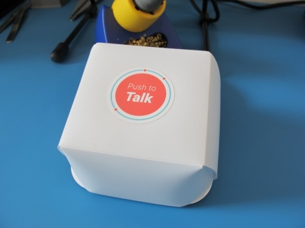 Push to Talk device that encourages carers and elderly to talk with someone Image courtesy of Jaine Pickering
